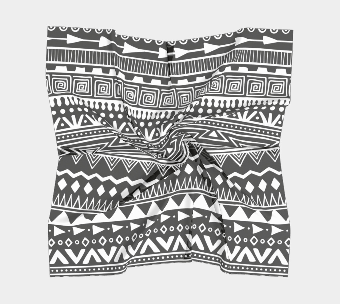 Aztec Print Square Scarf preview #5