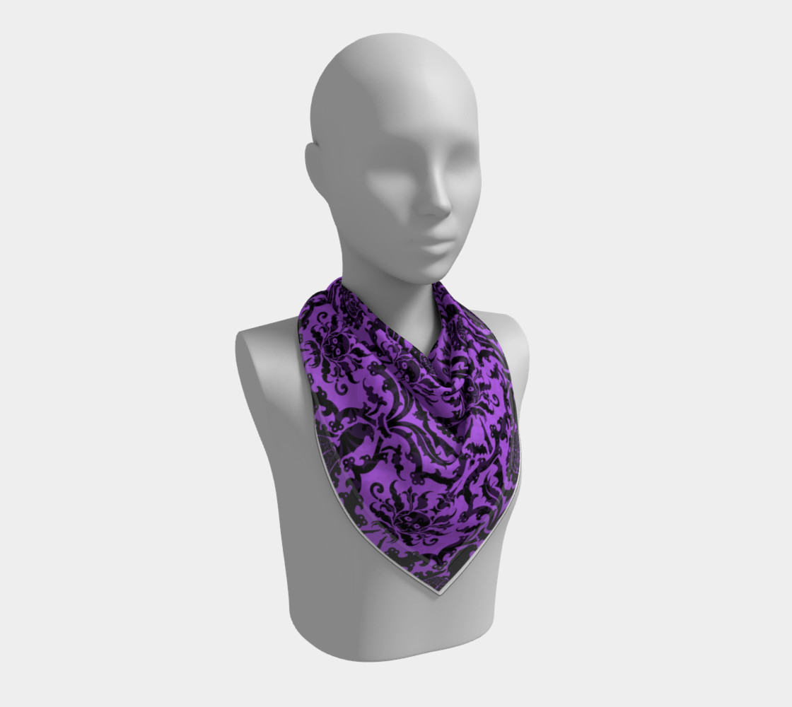 Horror Story Damask in Purple preview #2