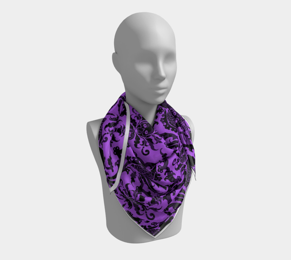 Horror Story Damask in Purple preview #3