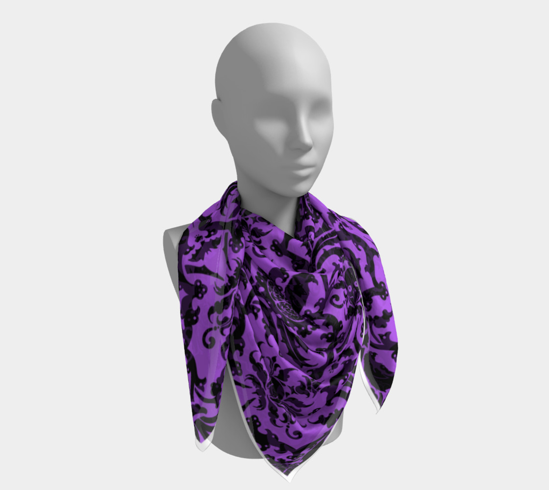Horror Story Damask in Purple preview #4