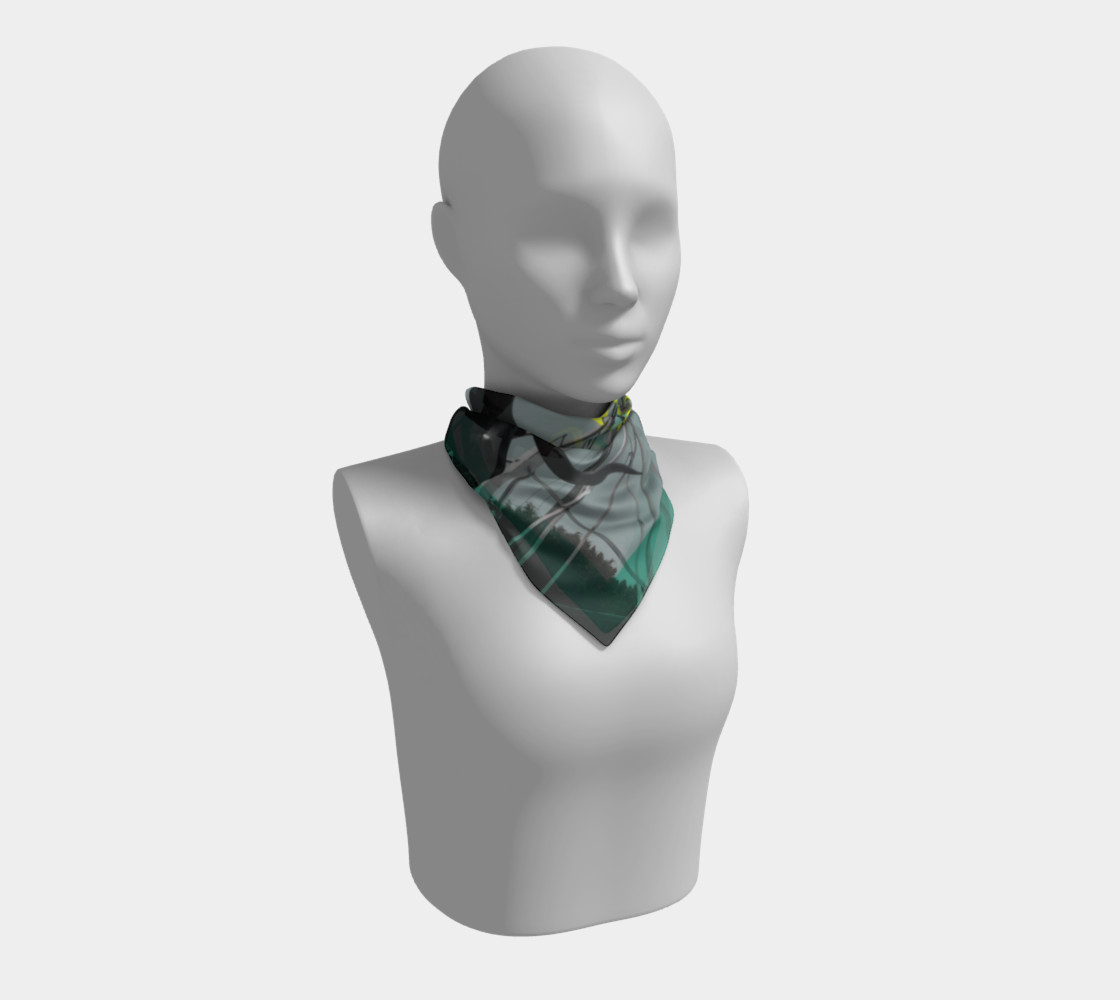 Austin Steer Silk Scarf Miniature #2