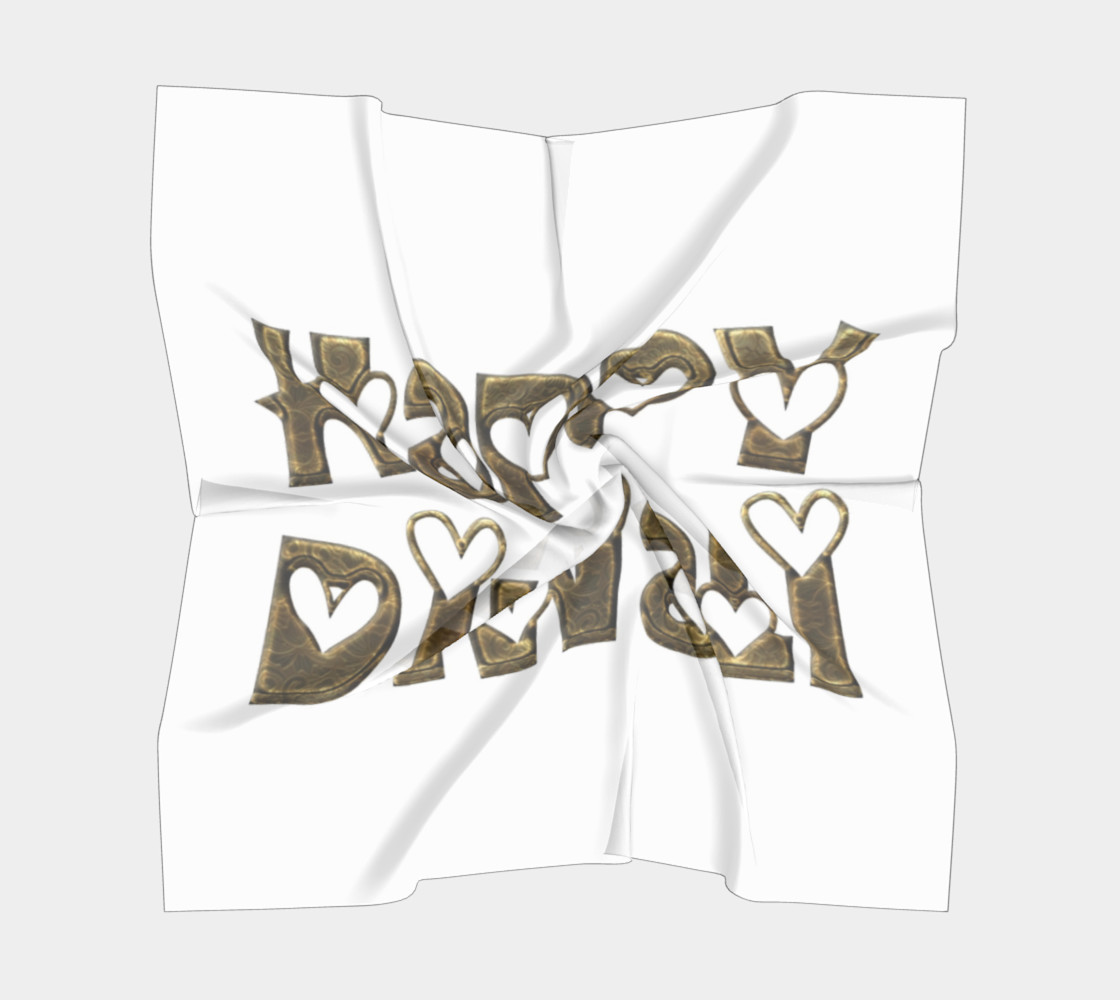 Aperçu de Festival of Lights Happy Diwali Greeting Typography Big Square Scarf #5