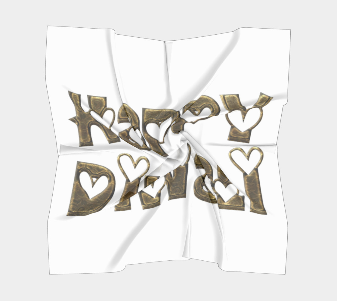 Aperçu de Festival of Lights Happy Diwali Greeting Typography Square Scarf #5