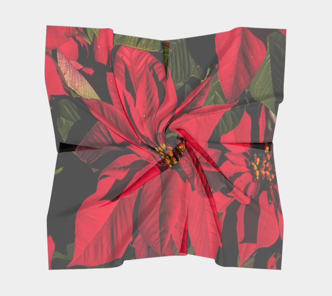 Poinsettia Christmas Scarf preview #5