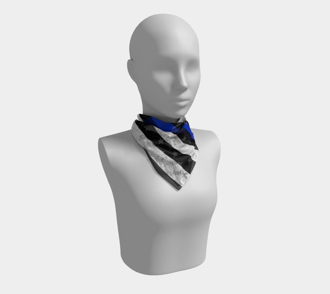 Thin Blue Line Flag Square Scarf preview #1