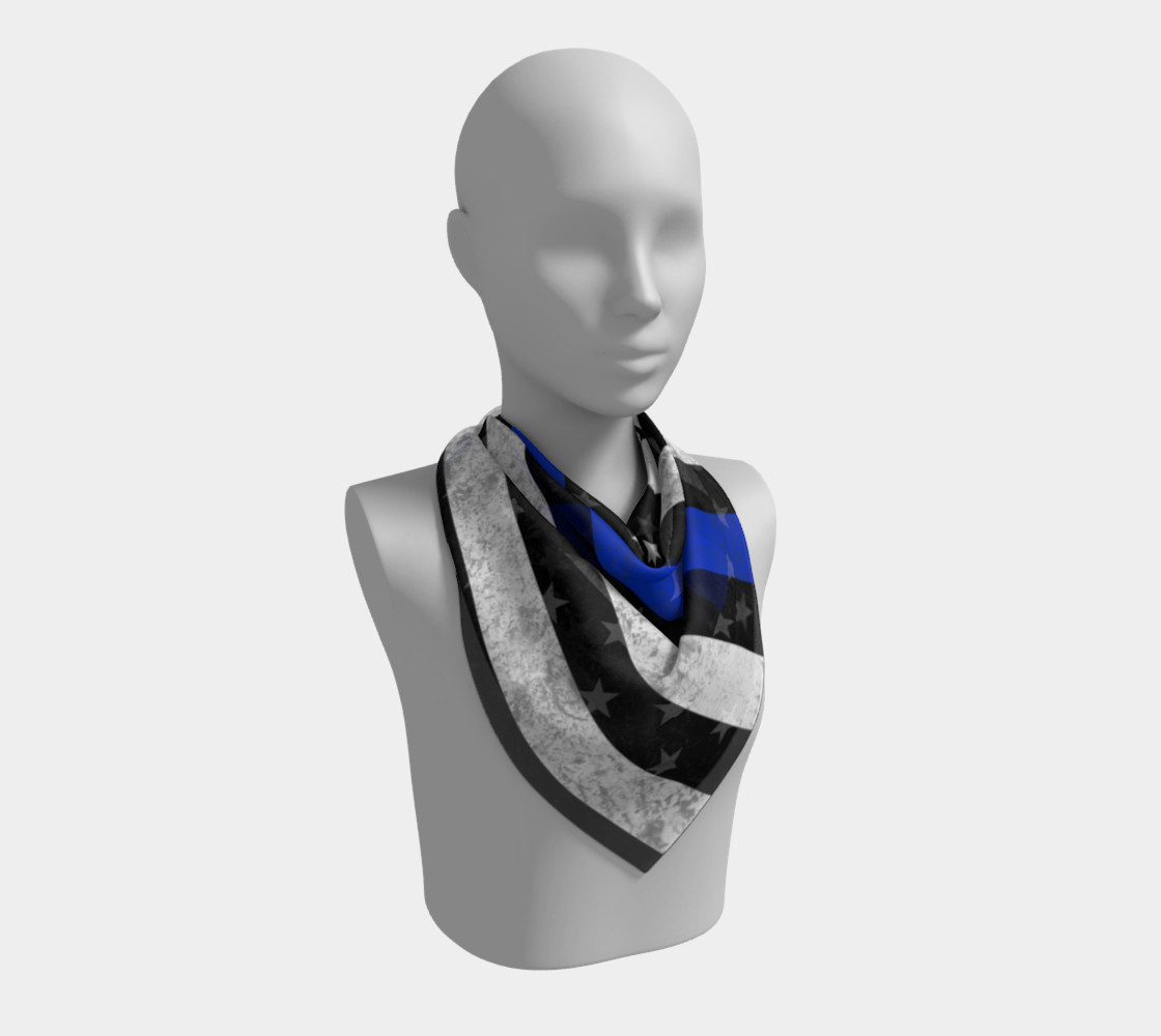 Thin Blue Line Flag Square Scarf preview #2