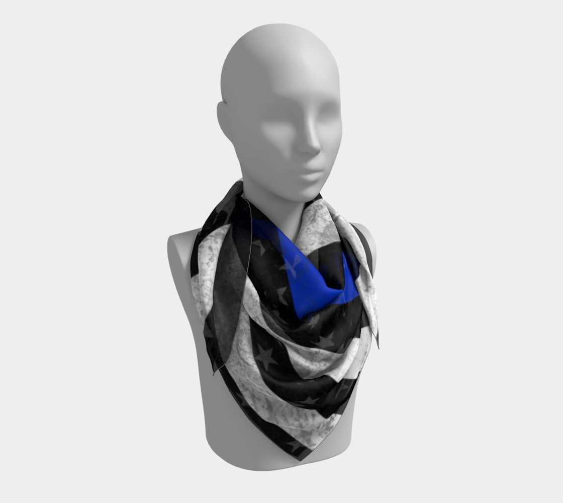 Thin Blue Line Flag Square Scarf preview #3