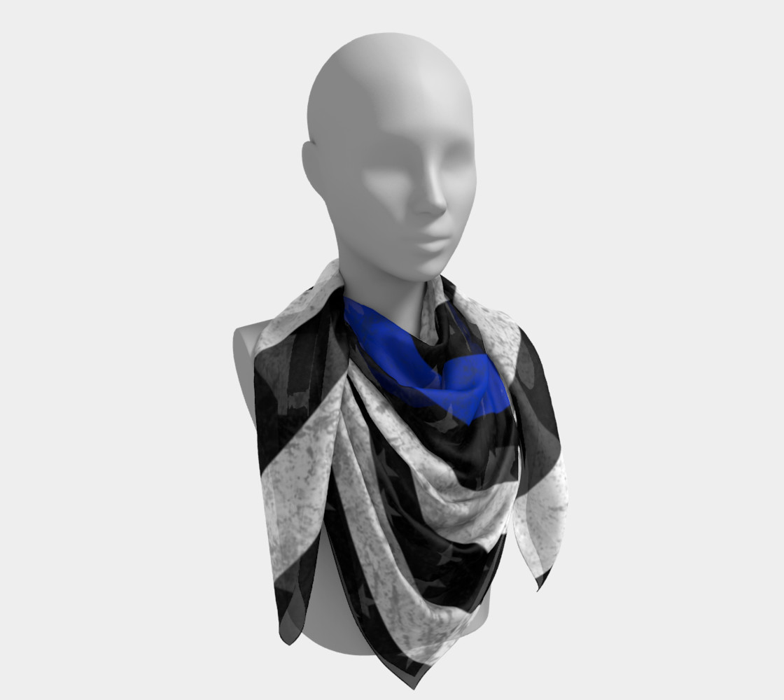 Thin Blue Line Flag Square Scarf preview #4