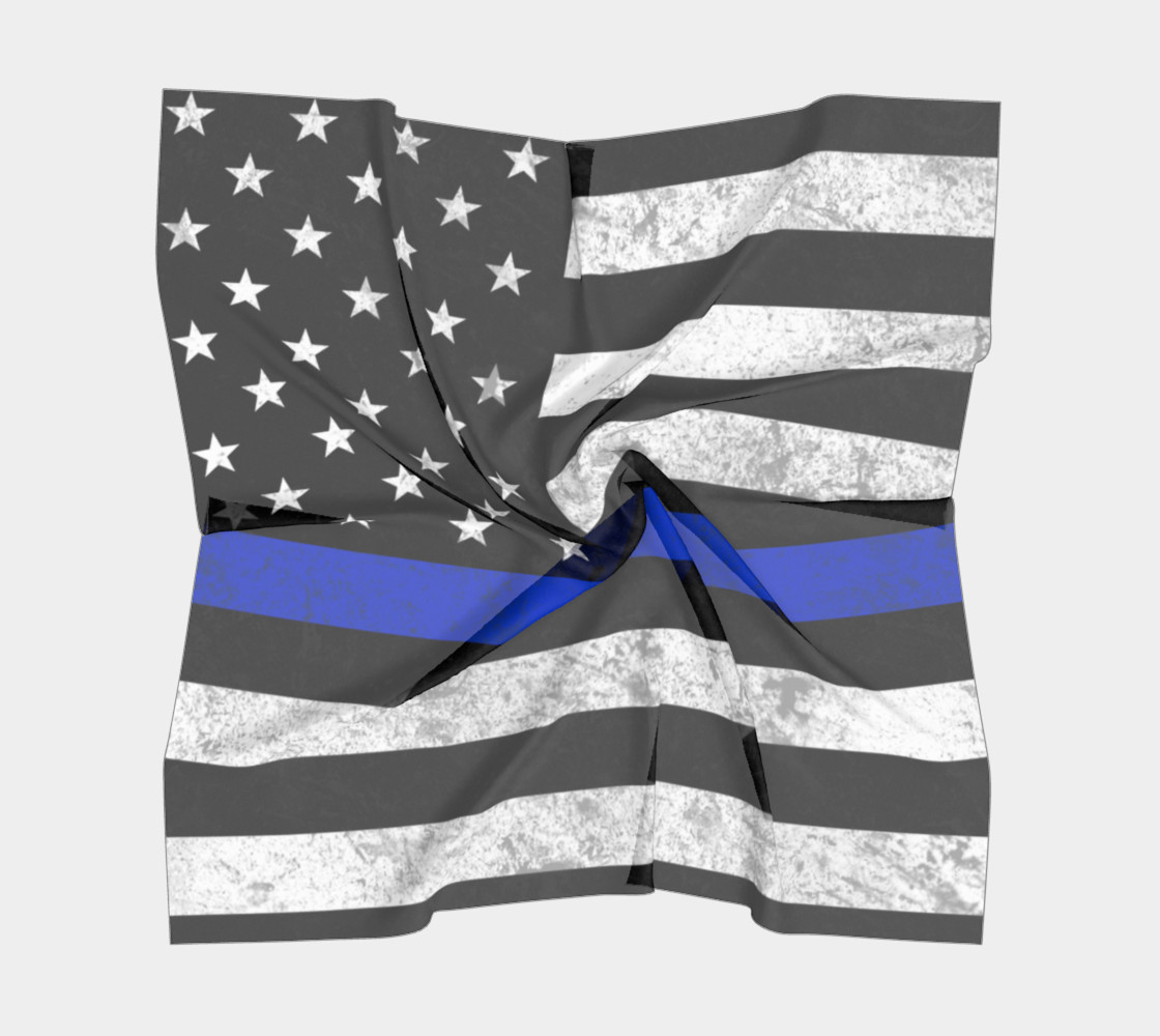 Thin Blue Line Flag Square Scarf preview #5