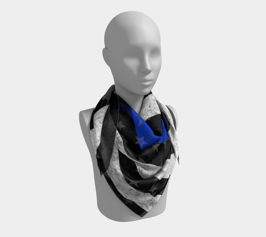 Thin Blue Line Square Scarf preview #3