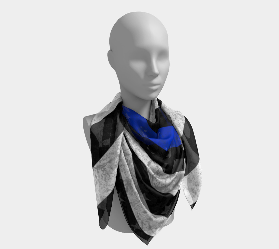 Thin Blue Line Square Scarf preview #4