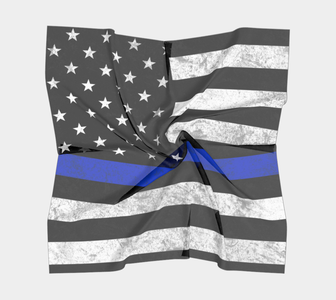 Thin Blue Line Square Scarf preview #5