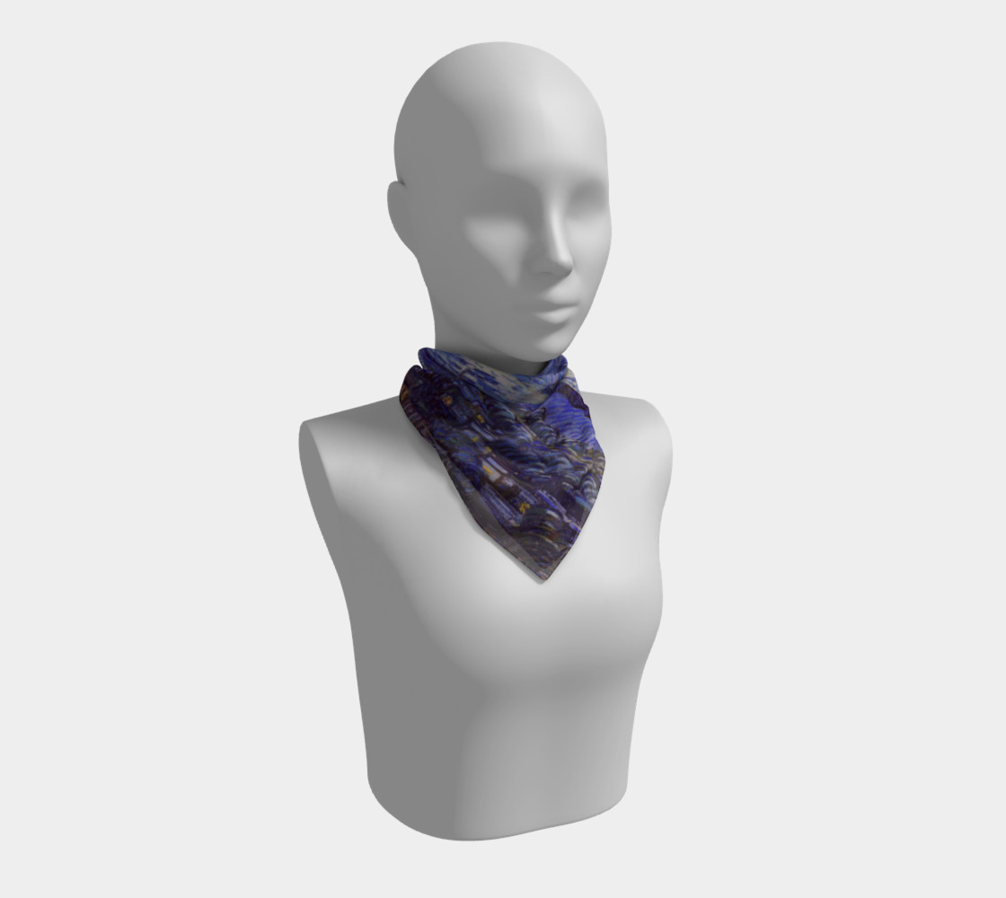 Vincent Van Gogh Starry Night Square Scarf preview #1