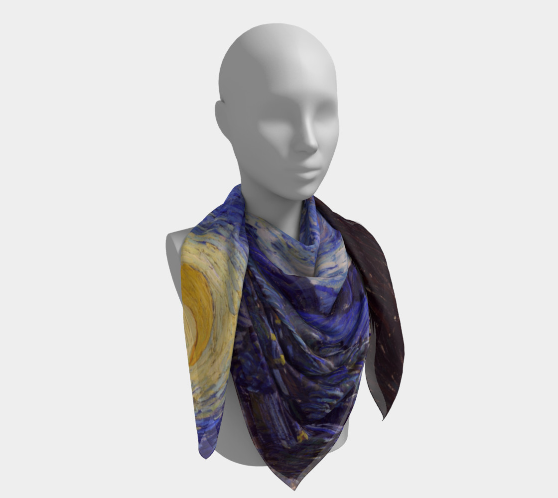 Vincent Van Gogh Starry Night Square Scarf preview #4