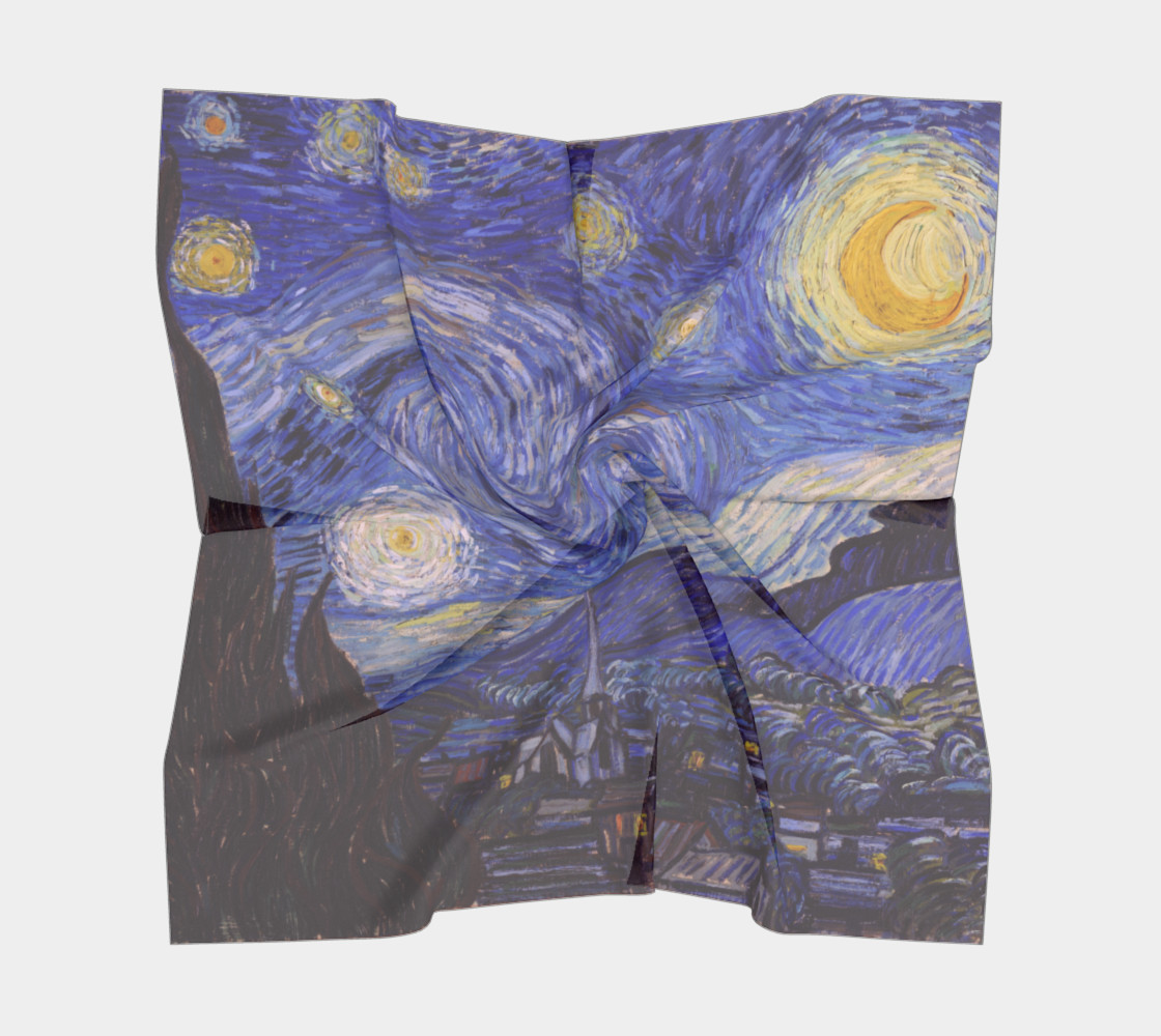 Vincent Van Gogh Starry Night Square Scarf preview #5