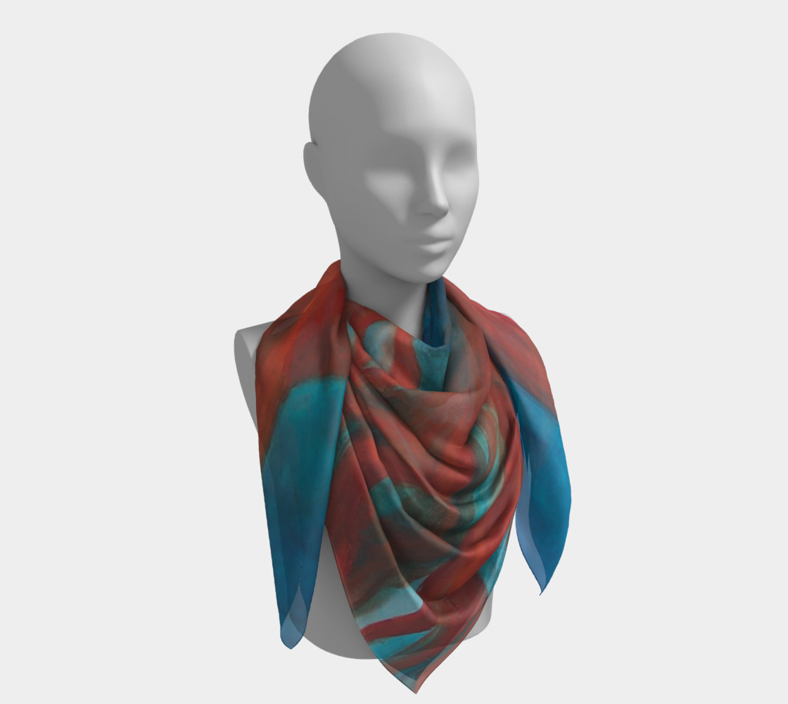 Blue Mermaid - Square Scarf preview #4