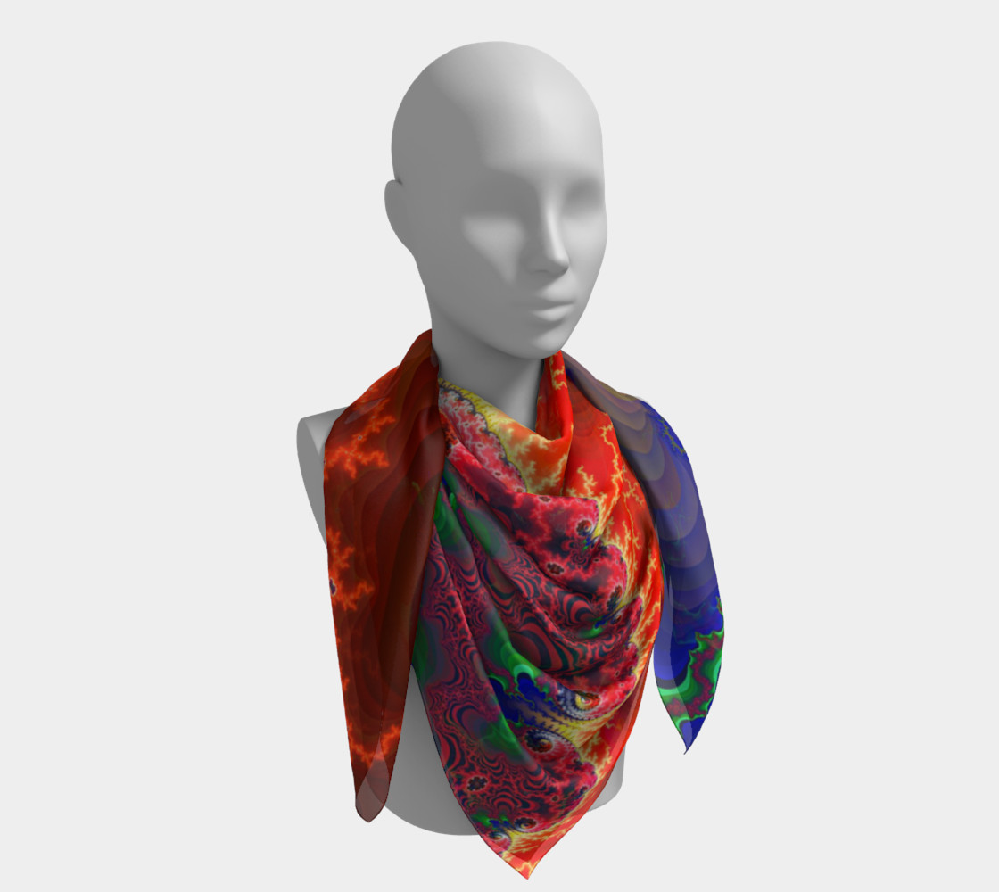 Pertolia - Big Square Scarf- by Danita Lyn preview #4