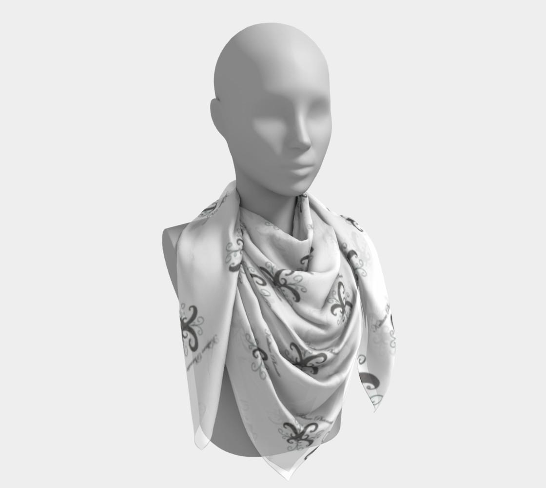 Aperçu de Kulture Phanatic Black & White silk scarf #4
