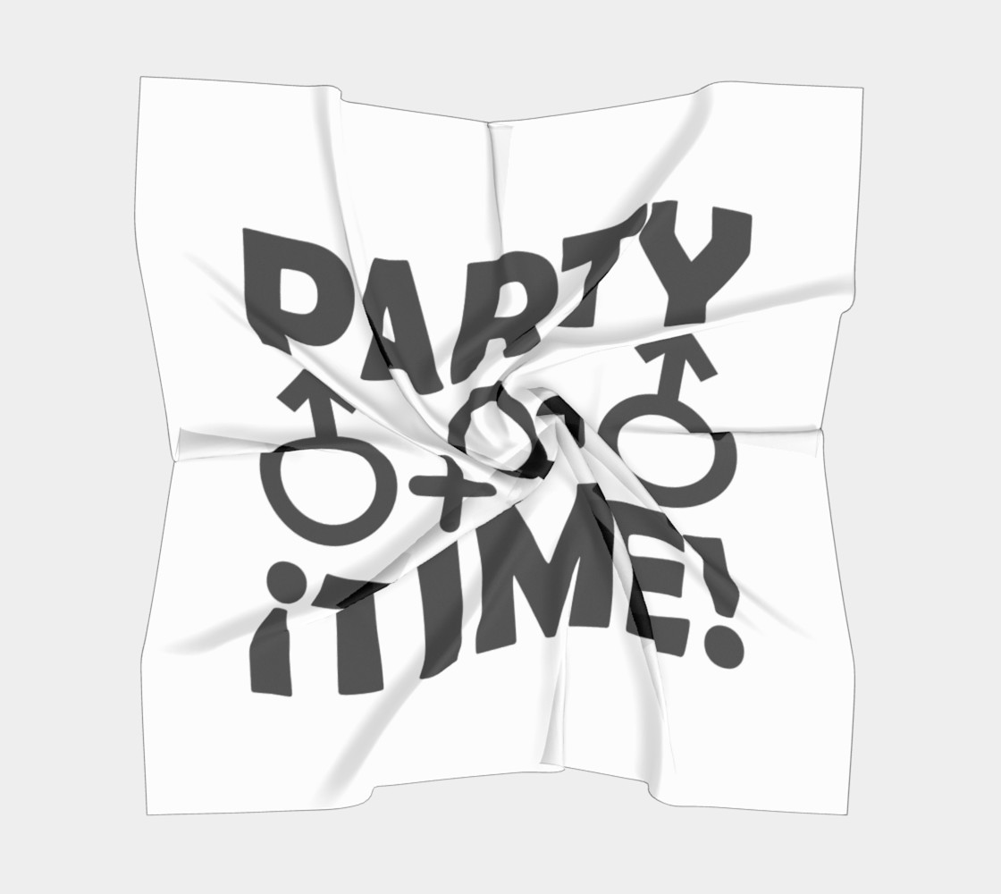 Party Time Threesome Sex Concept Typographic Design Big Scarf preview #5
