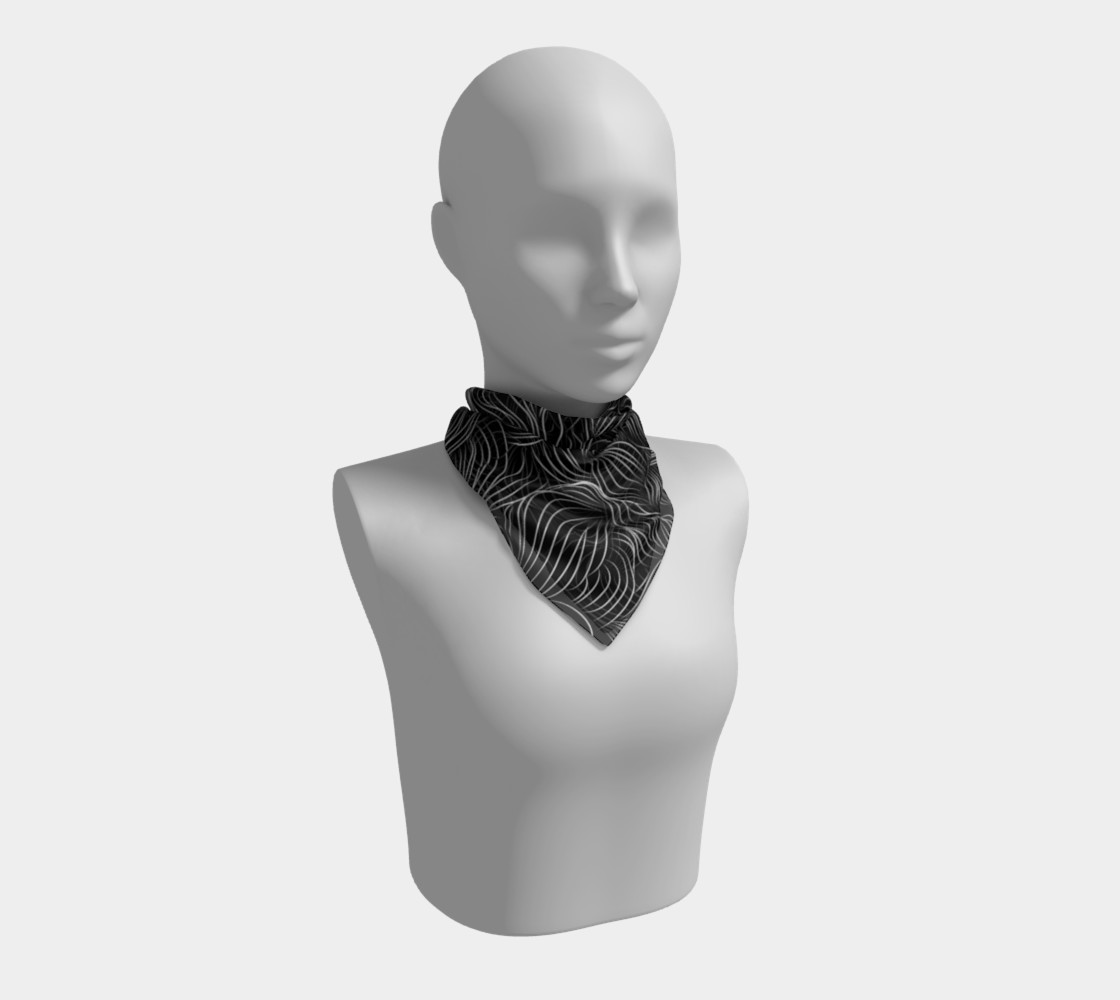 Black Square Scarf preview #1