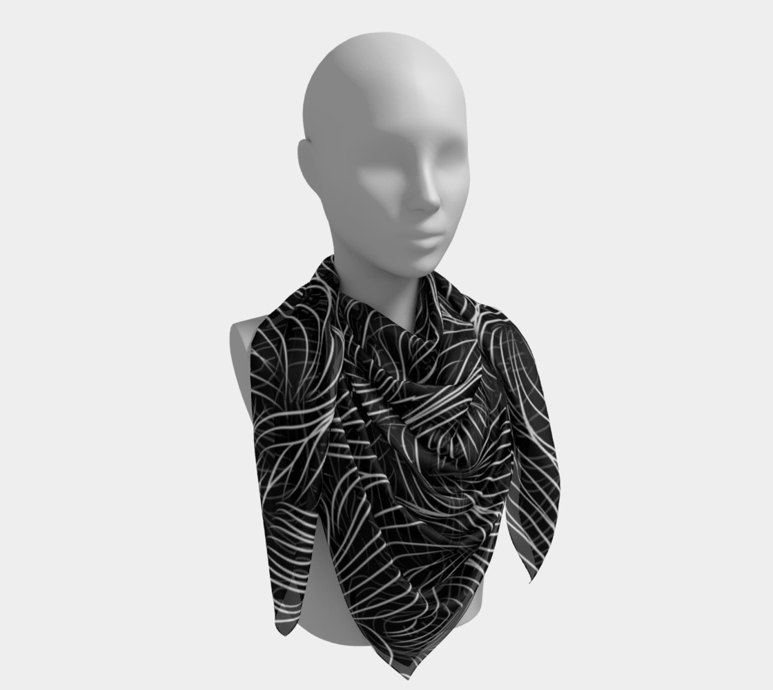 Black Square Scarf preview #4