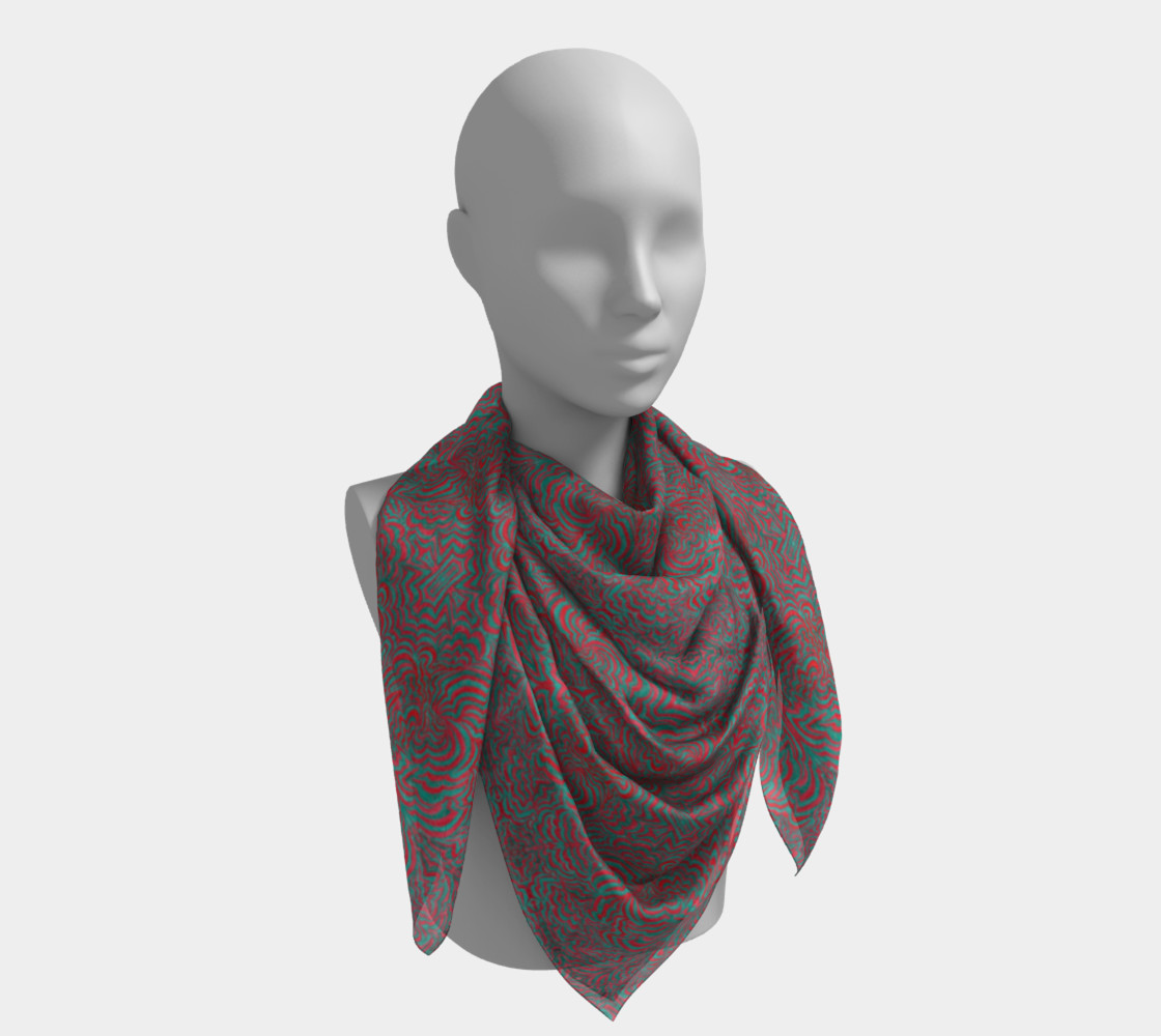 3D Square Scarf - Small preview #4