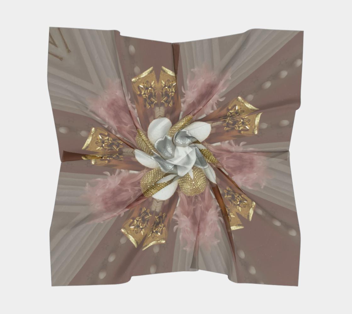 Aperçu de Elegant Antique Pink Shiny Gold Silver White Flower #5