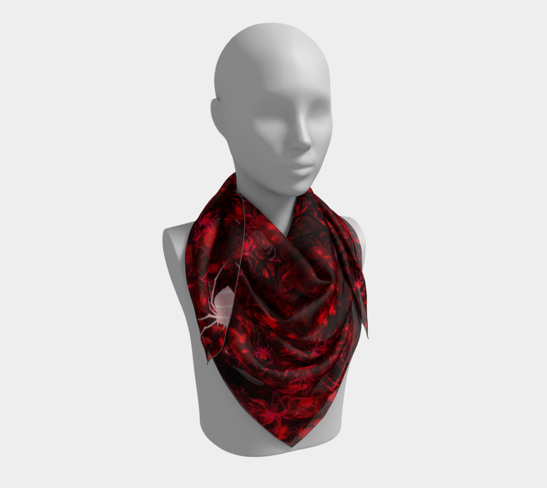 Red Spider Swarm Square Scarf preview #3