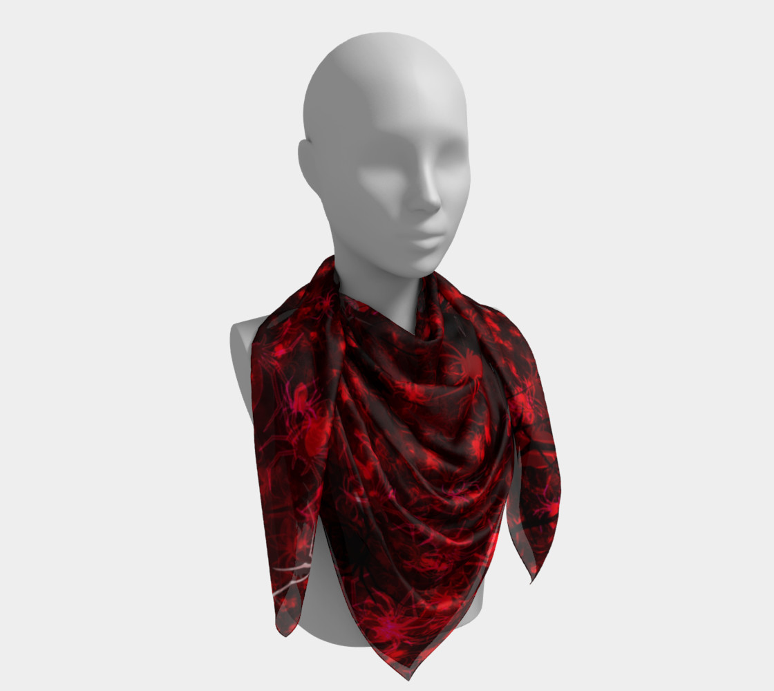 Red Spider Swarm Square Scarf preview #4