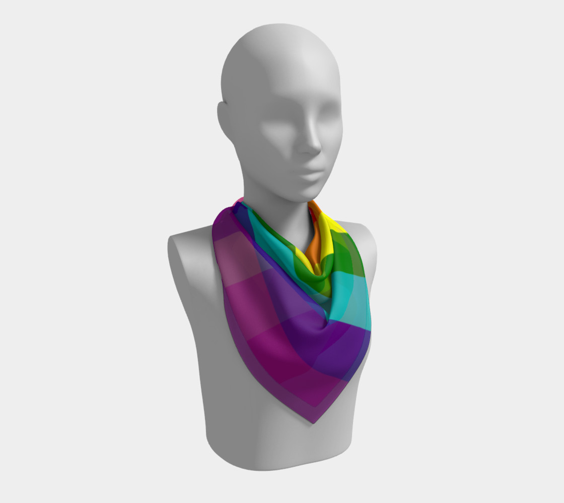 Rainbow Flag Original 8 Stripes Pattern LGBT Pride preview #2