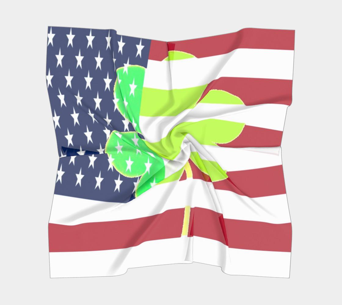 Aperçu de St. Patrick's Day Irish Shamrock Clover American Flag #5