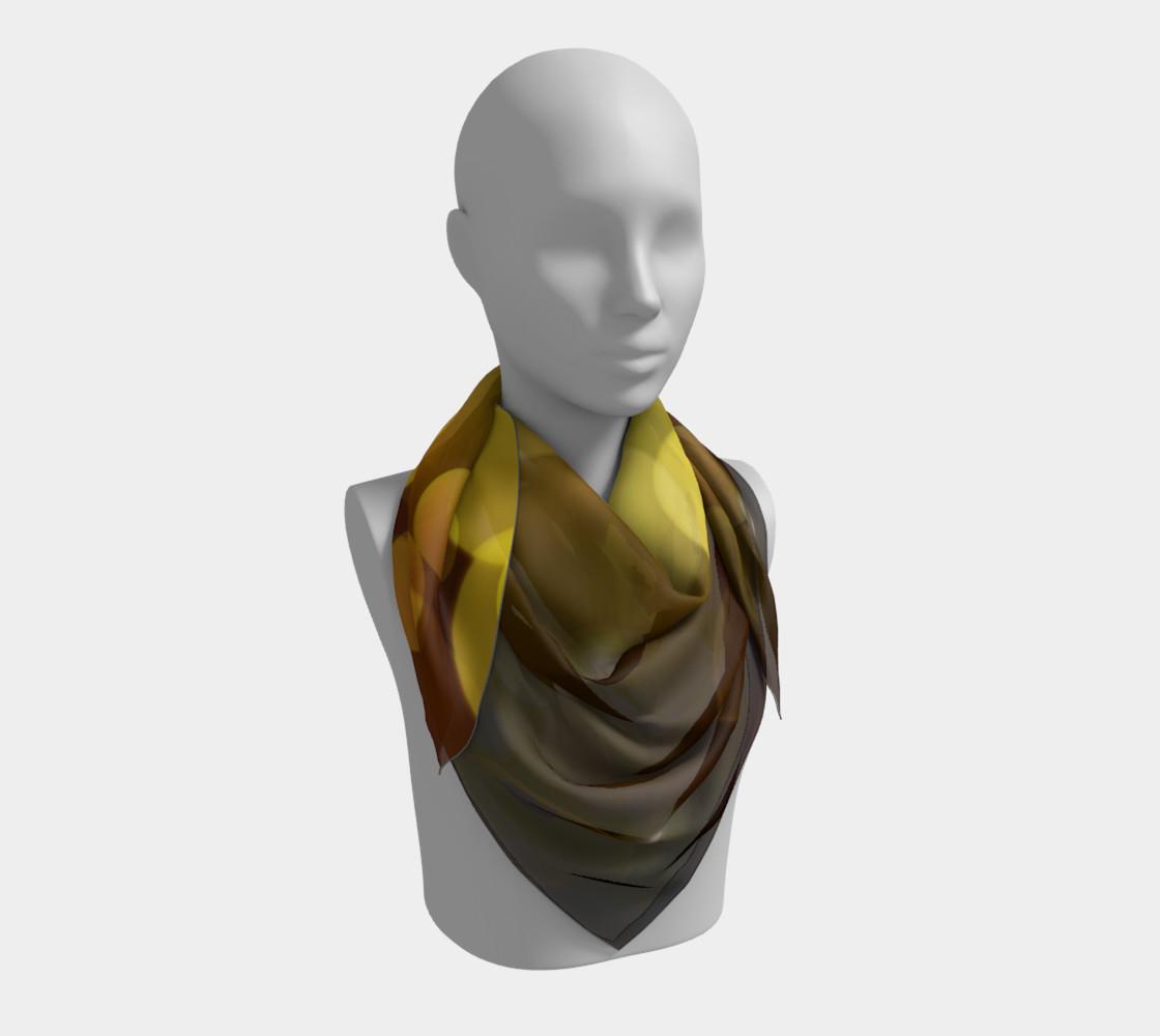 Golden bokeh skarf preview #3