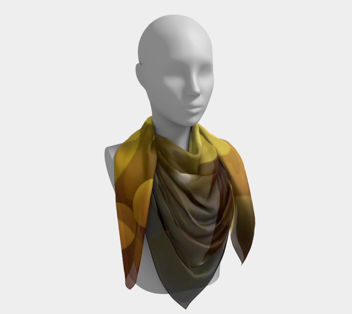 Golden bokeh skarf preview #4