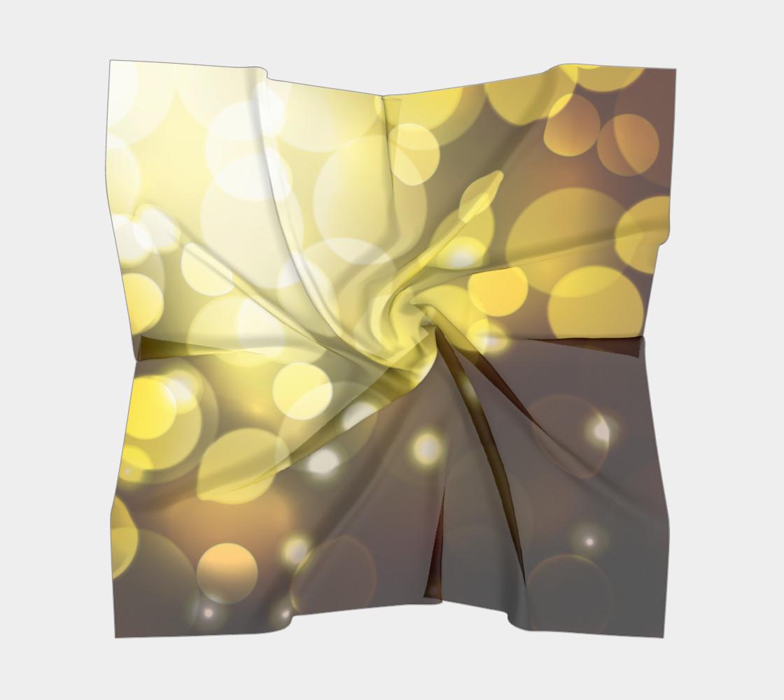 Golden bokeh skarf preview #5