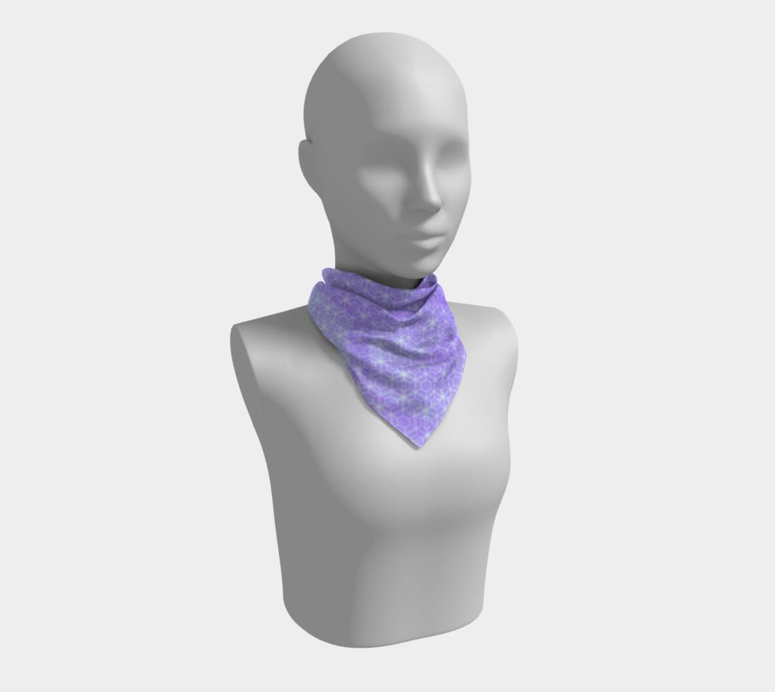 Aperçu de Lavender and Purple Ombre Hexagon Pattern Silk Scarf #1