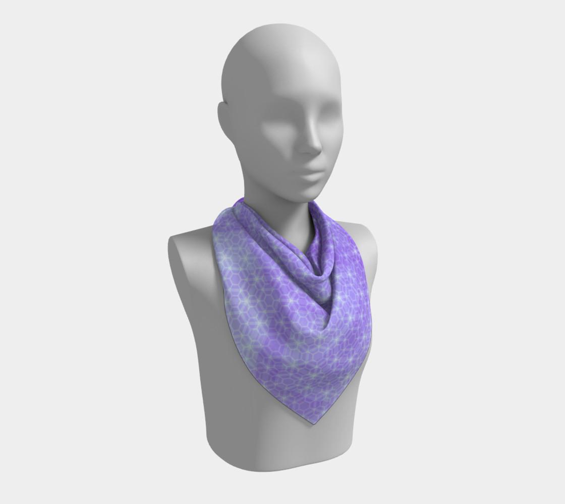 Aperçu de Lavender and Purple Ombre Hexagon Pattern Silk Scarf #2
