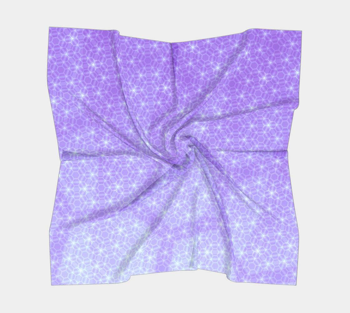 Aperçu de Lavender and Purple Ombre Hexagon Pattern Silk Scarf #5