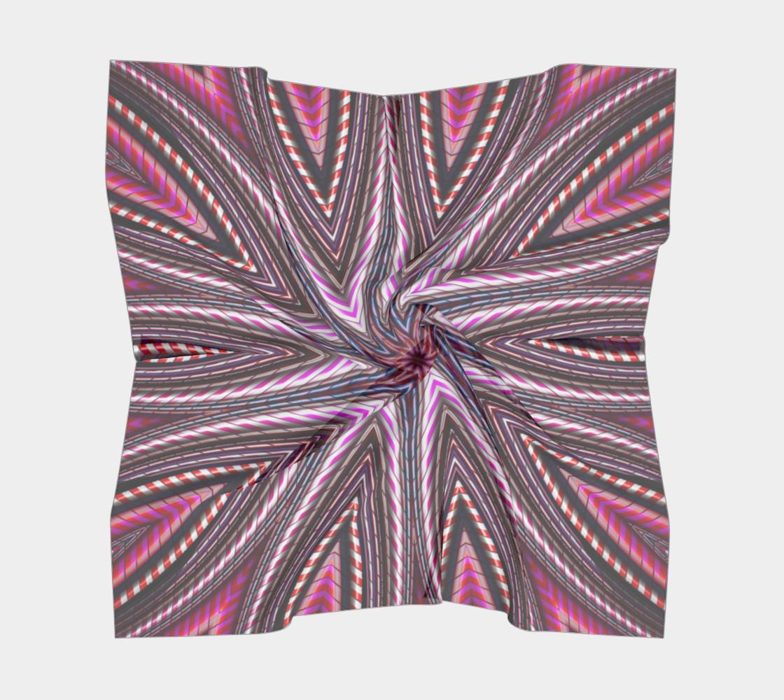 Aperçu de Candy Cane Kaleidoscope Big Square Scarf #5