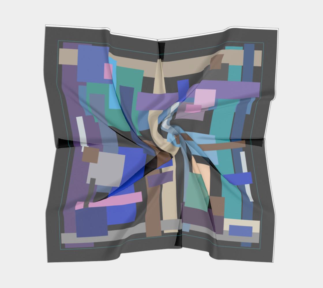 Aperçu de Block Print In Blue and Purple #5