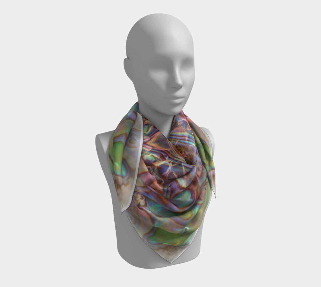 Sea Opal Silk Scarf preview #3