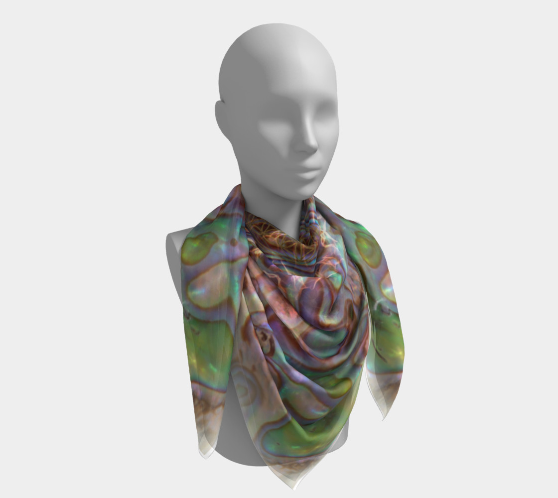 Sea Opal Silk Scarf preview #4