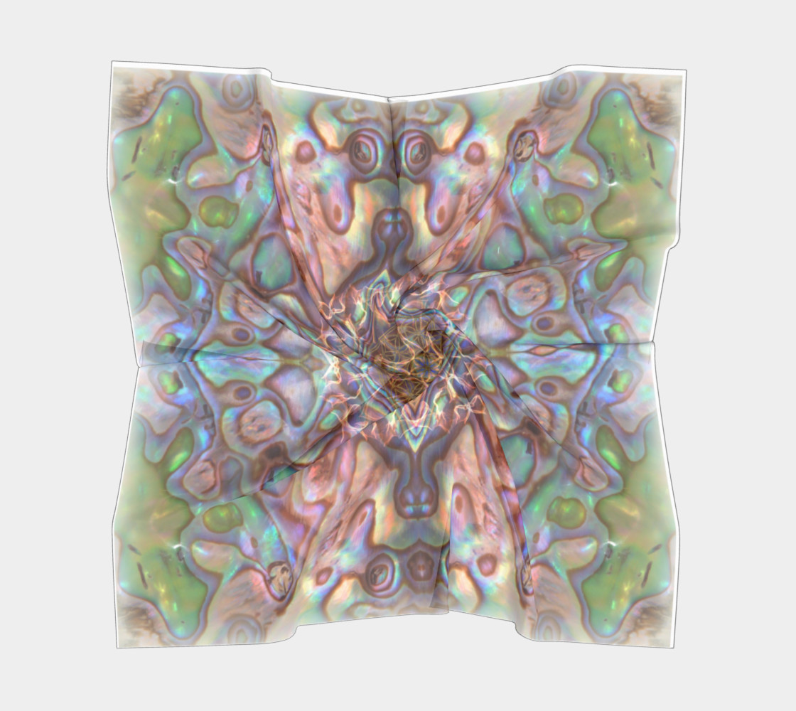 Sea Opal Silk Scarf preview #5