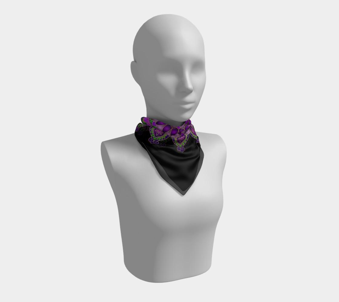 Purple Passion Mandala Square Scarf preview #1
