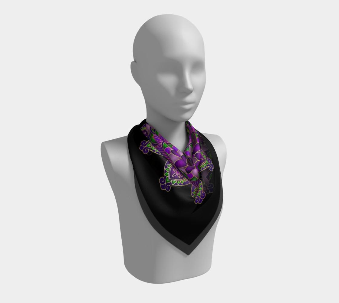 Purple Passion Mandala Square Scarf preview #2