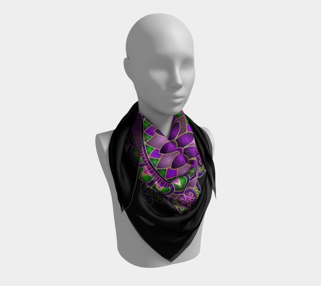 Purple Passion Mandala Square Scarf preview #3