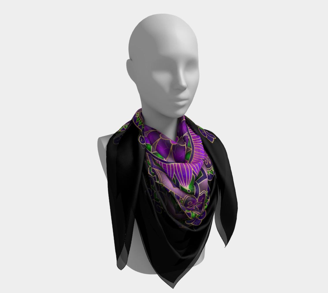 Purple Passion Mandala Square Scarf preview #4