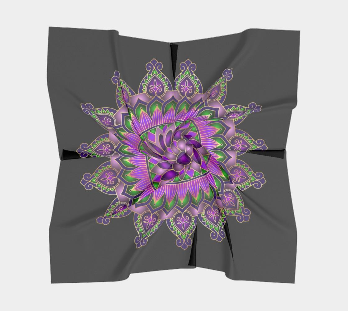 Purple Passion Mandala Square Scarf preview #5