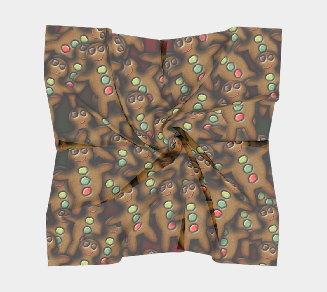 Aperçu de Gingerbread Man Big Square Scarf #5