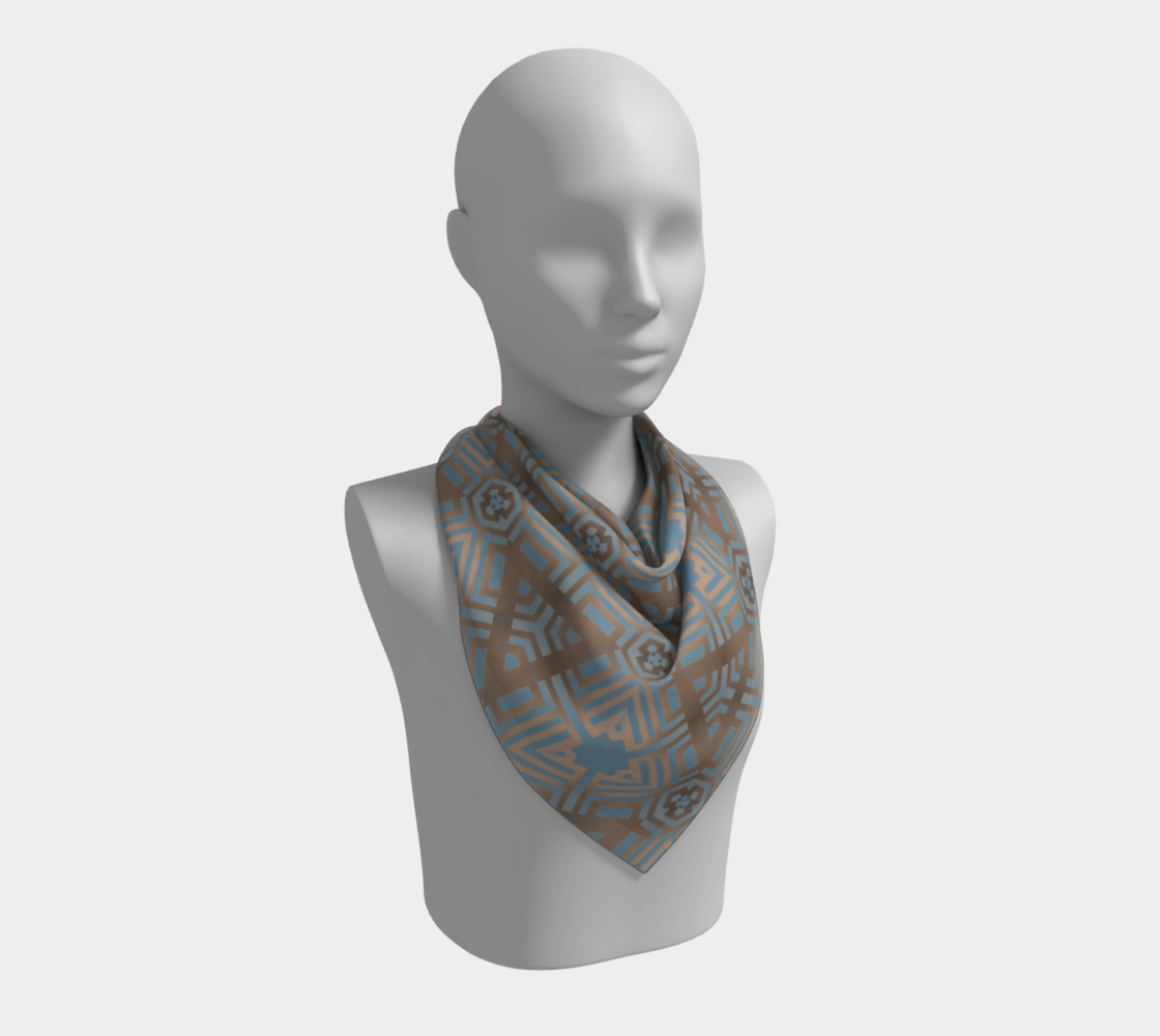Beige and Blue Contemporary Tribal Pattern preview #2