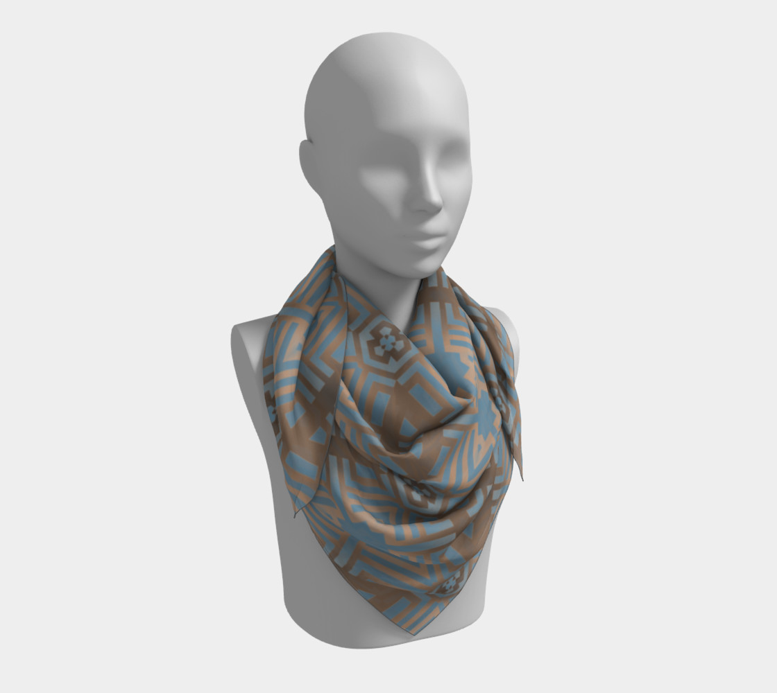 Beige and Blue Contemporary Tribal Pattern preview #3